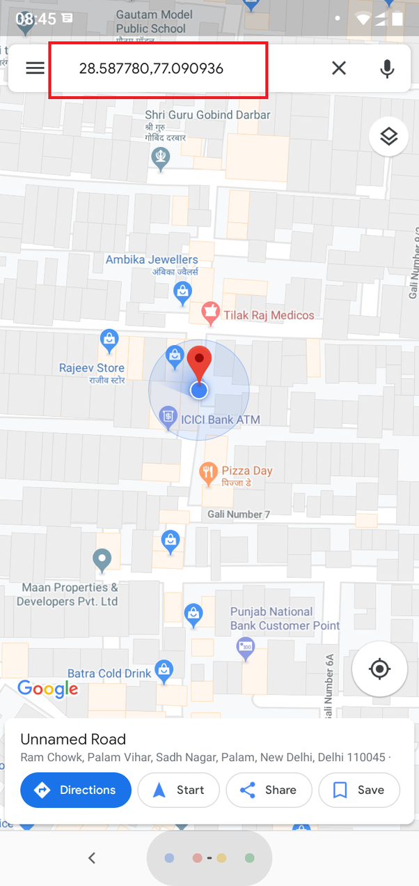 How to get my location coordinates on Google map - Quora