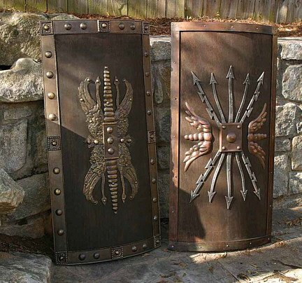 The long shield served the soldier who fought without armor and needed maximum body protection. Usually only could be used in a defensive position ... & Why was the round shield so common even though the full body shied ...