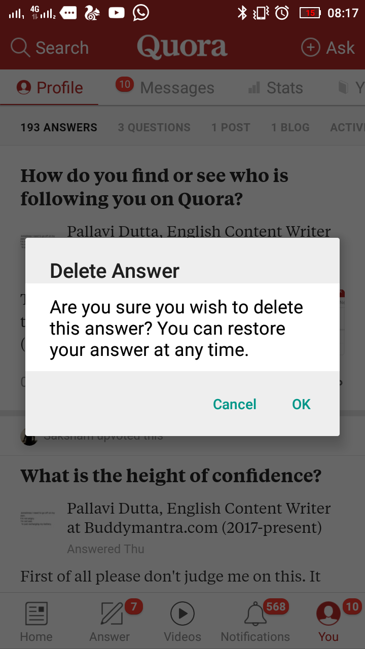 How to delete my own question from Quora - Quora
