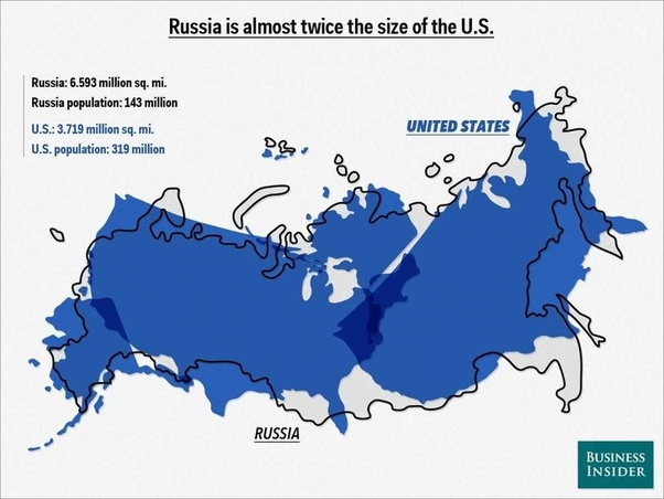 Usa And Russia Map.What Country Has The Most Land Mass Canada The Usa Including