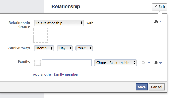 How to put your in a relationship on facebook