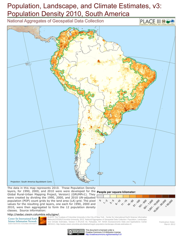 most populated country in south america