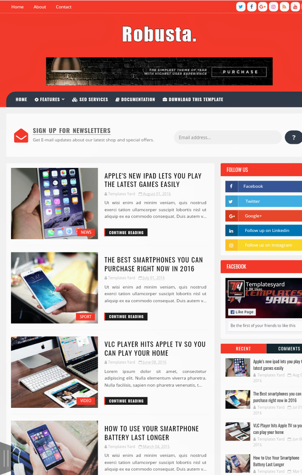 What are the best optimized and responsive blogger templates for ...