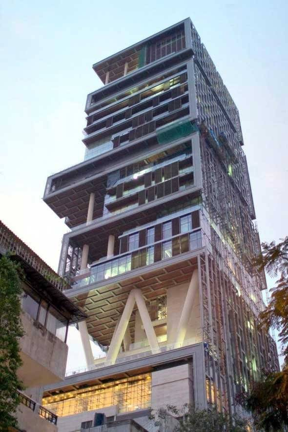 It Is Thus The Worldu0027s Most Expensive Private Residential Property,valued  At $1 Billion. It Is Clearly Distinguished In The Mumbai Skyline Due To Its  Unique ...