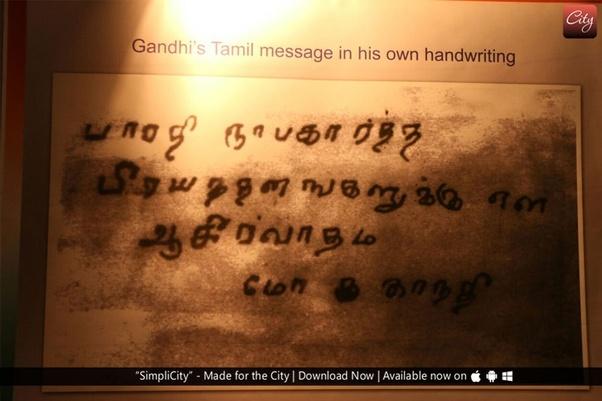 Why did Gandhi praise the Tamil language? - Quora