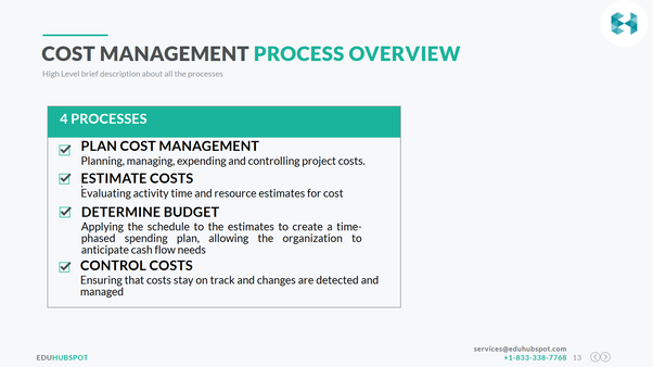 What are the importance and processes of project cost