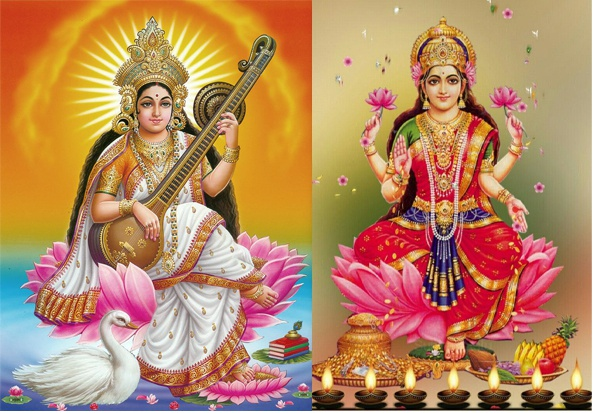 What Is The Relation Between Goddess Saraswati And Goddess Laxmi Why Is It Said That Goddess Saraswati And Laxmi Never Stay Together Quora