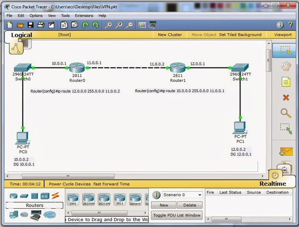 How to configure a VPN in Cisco Packet Tracer - Quora