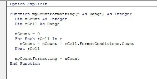 How to count conditionally formatted cells using VBA - Quora