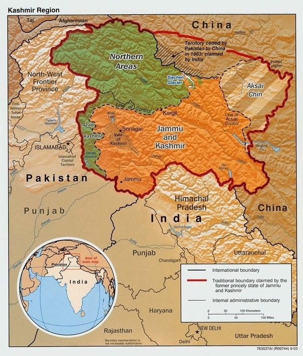 Why is the map of india shown on google maps different from what it the portion in green is in pakistans control the orange part is under indian control and aksai chin and the shaded part are under chinas control gumiabroncs Images