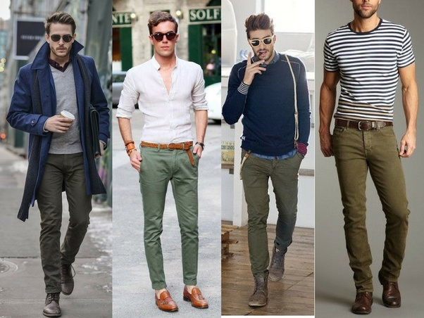 What colors look good with olive green pants?