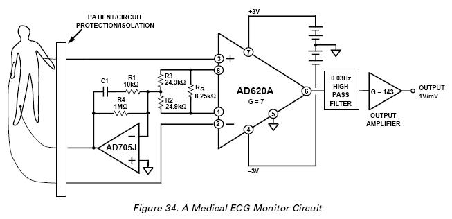 Superb Ecg Circuit Basic Electronics Wiring Diagram Wiring 101 Ivorowellnesstrialsorg