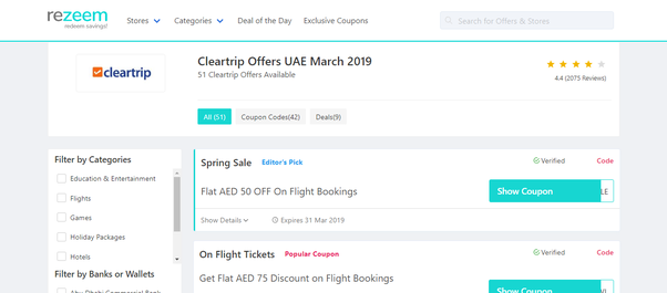 How to find Cleartrip coupons - Quora