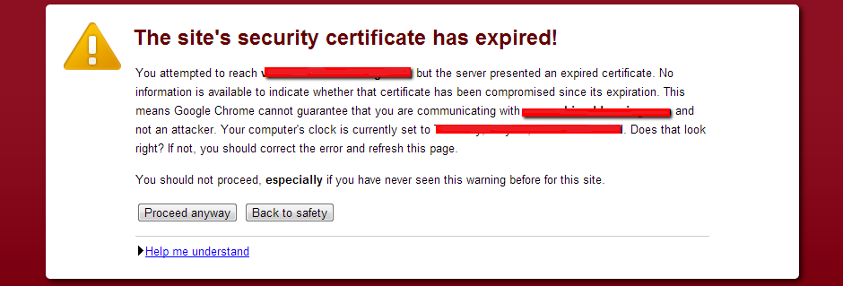 What will happen if I make online transaction with SSL error