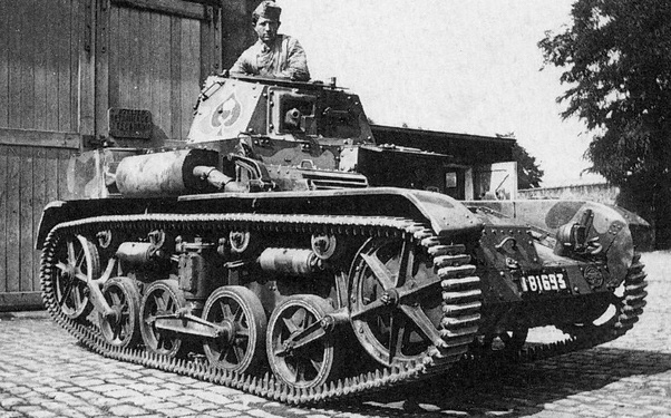 German parade of captured French AMC 35 and H35 t