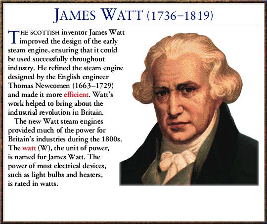 james watt visionary of the industrial James watt contributed to society by _____ - 2846101 james watt's key contribution to the industrial revolution was his improvement of steam.
