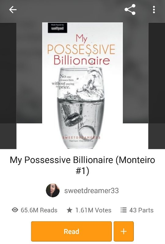 What are the most read Wattpad books? I'm looking for 100 million +