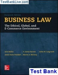 Business law: the ethical, global, and e-commerce environment.