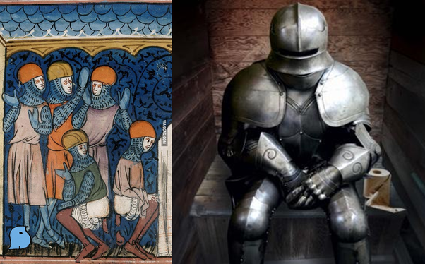 Taking A Dump Was Not An Easy Story For Knight And The Problem Began With Plate Armours Before That You Just Picked Up Chain Mail Skirt