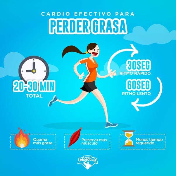 ejercicios cardio 20 minutos para perder peso