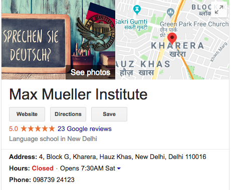 Which is the best institute for german language in delhi