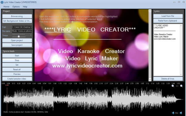 What are some of the best software for creating lyric videos