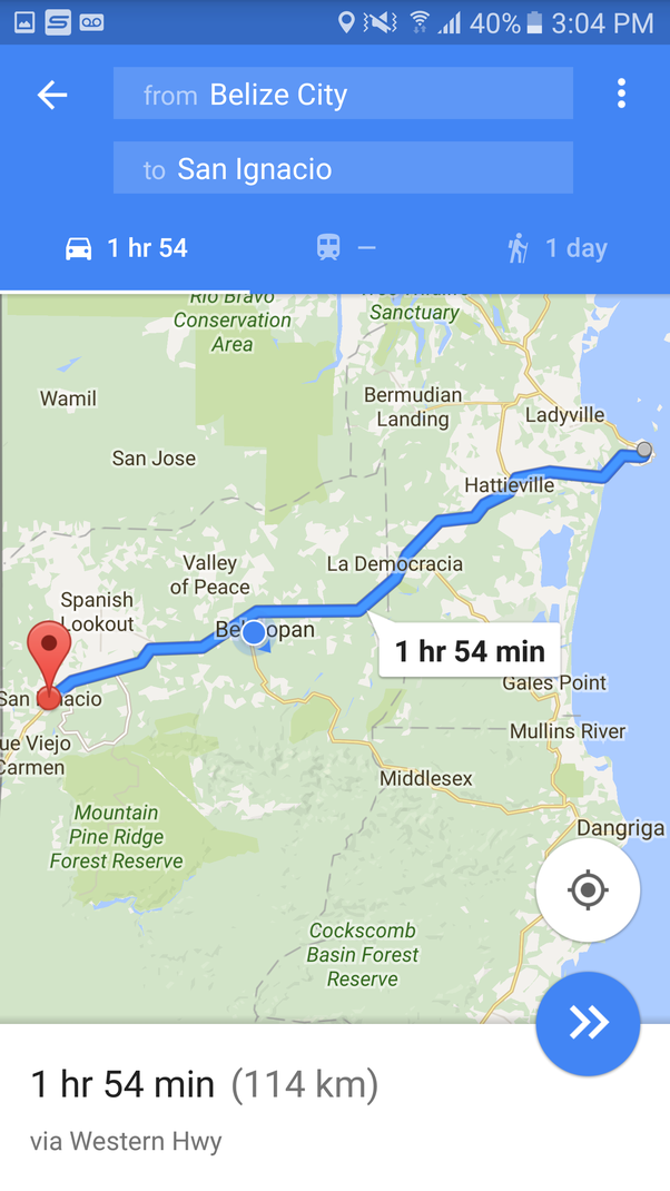 Whats the best way to get from Belize City to San Ignacio and back