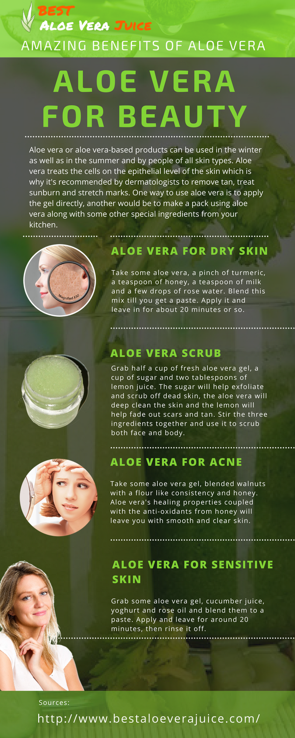 Aloe vera plant on face overnight