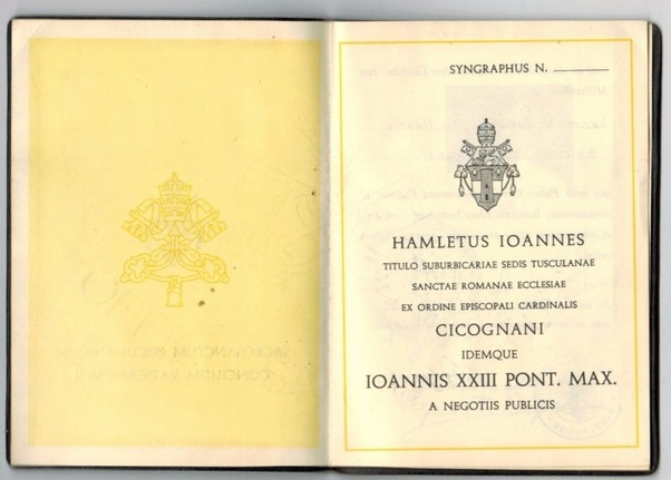 What Does The Inside Of Today's Vatican Passport Look Like
