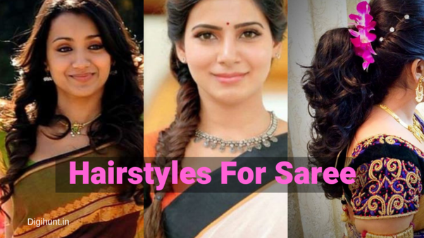 I Have Long And Thick Hair Which Hairstyle Should I Go For In Saree