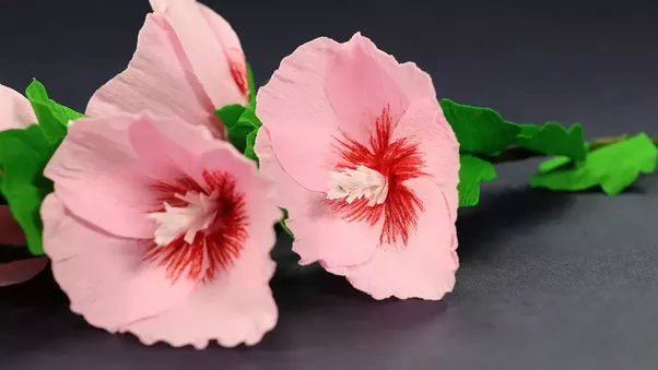 What is the best paper craft you have done using a newspaper quora make stunning hollyhock mallow flowers out of paper with the help of crafting hours a bouquet of homemade flower work as a small gift in extra to brilliant mightylinksfo