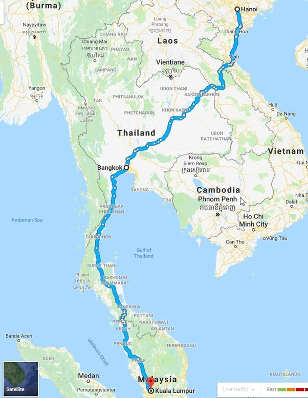 Can I Drive From Malaysia To Bangkok