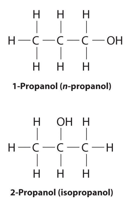 What are the isomers of propanol? How are they determined ...