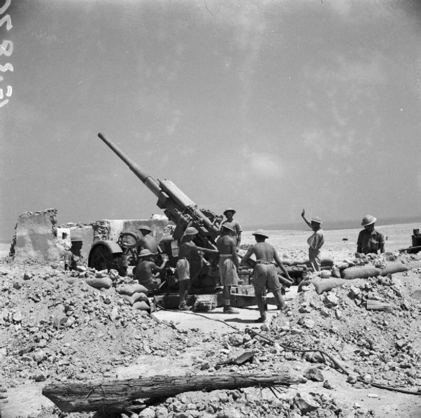 Could the British AA guns have been useful as AT guns? If so, how