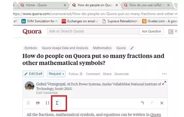 How Do People On Quora Put So Many Fractions And Other Mathematical