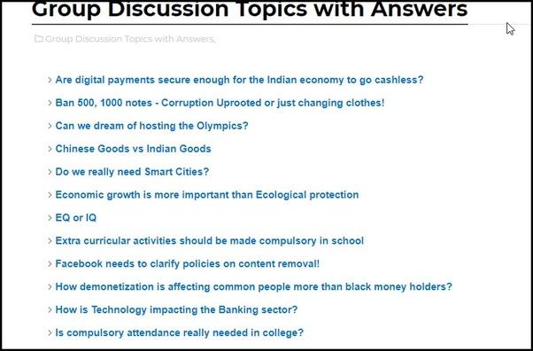 good group topics
