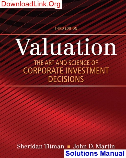 Where Can I Read A Solutions Manual For Valuation The Art And