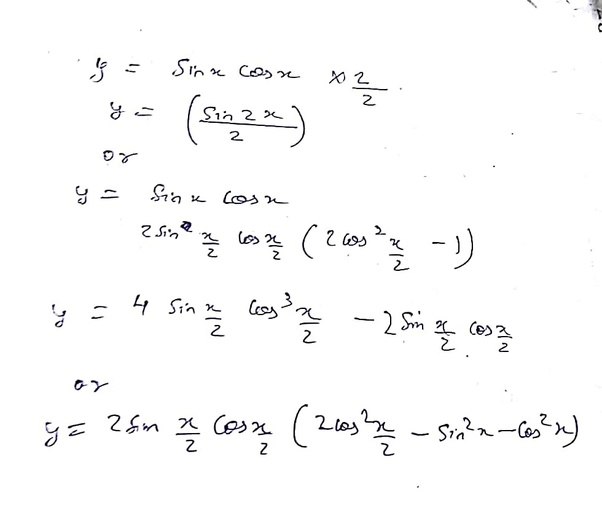 what is the formula of sinx cosx quora