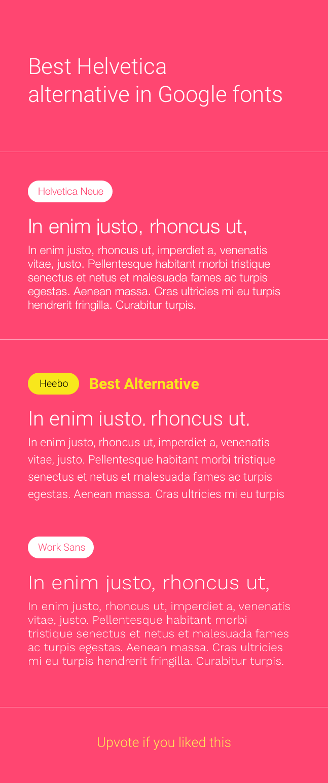 Are there any Google web fonts similar to Neue Helvetica