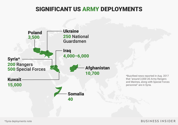 the us has 13 million troops stationed around the world here are the major hotspots