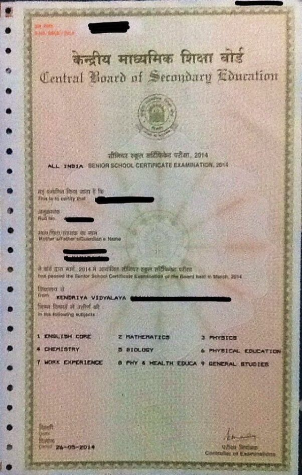 Is the class 12th marksheet and pass certificate same? - Quora