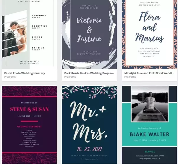 would you recommend designing wedding programs with canva why or