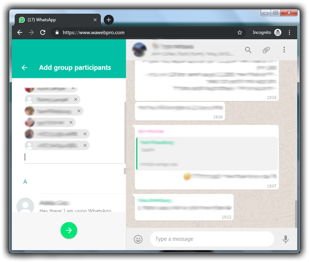 How to duplicate a whatsapp chat group - Quora