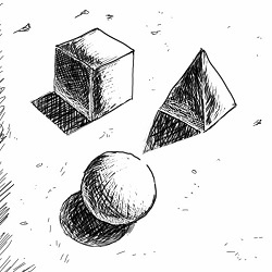 when drawing shapes based on overlapping spheres how do you choose