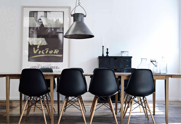 If You Want Black Legs, Go With Light Wood Table Top And Consider Black  Chairs For A Bit Of A Pop In Your Monochromatic Scheme.