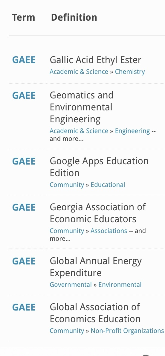 What does GAEE stand for? - Quora
