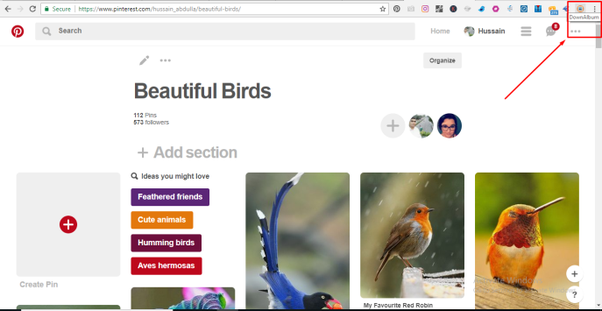 How to download all of the full size images from my Pinterest board
