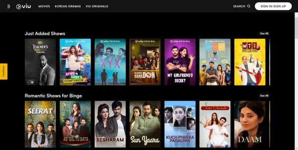 Which app is best for watching web series online at a free