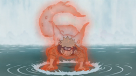 Why does Naruto, when he turns into a tailed beast, the full nine