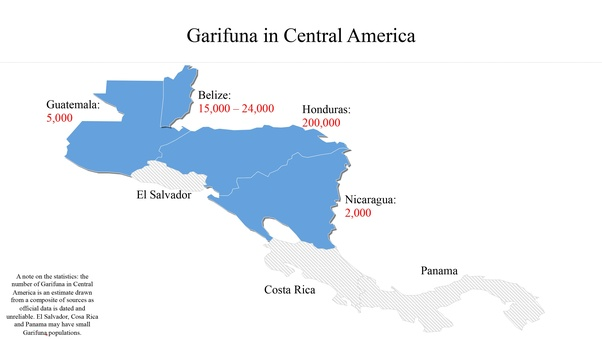 Are the garifuna people hispanic or latino quora above is a map highlighting in blue the countries where significant garifuna populations reside honduras gumiabroncs Gallery